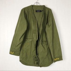 ✅ Civil regime jean jacket green parka